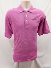 Mens Orvis Medium M Quarter Button Polo Pure Cotton Shirt Short Sleeve