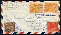 EL SALVADOR to HONDURAS air cover 1942 COJUTEPEQUE cancel - V/nice