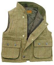 Kids Game Fife Tweed Gilet Bodywarmer Hunting Shooting Vest Waistcoat Tefloncoat