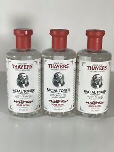 3 Pack Thayers Facial Toner Witch Hazel Rose Petal 12oz