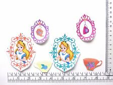 New Disney Alice in Wonderland cartoon iron on adhesive fabric appliques patch -
