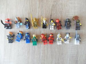 Lego Ninjago 18 Minifiguren Ninjas, Sense Wu, goldener Ninja, Lloyd,