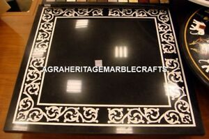Marble Side Coffee Dining Outdoor Table Top Mother of Pearl Inlaid Decor H4377