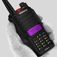Handheld 15W VHF UHF Walkie Talkie Dual Band Waterproof IP67 Two Way Audio Black