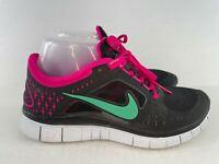 Nike Free Run 3 Women's Size 8 Black Pink Running Training Shoes Sneakers 510643