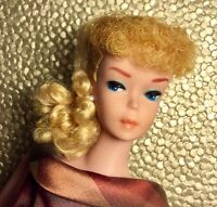 Vintage Barbie #6 6 Ponytail Citrus Blonde SHOW-STOPPING HAIR AND FACE!