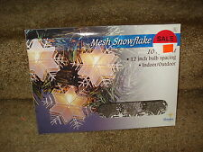 Snowflakes Mesh Lights 10 count 12 inch spacing 164478 505