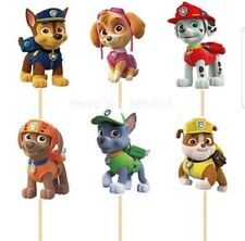 24 Pcs, paw patrol Cupcake Toppers Kids Birthday Party Supplies.