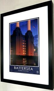 Battersea Power Station-Luxury Framed Print/London/Chelsea/