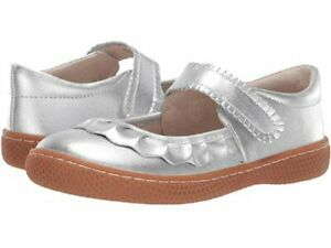 NIB LIVIE & LUCA Shoes Ruche Silver Metallic 7 8