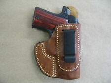 Sig Sauer 938, P938 9mm IWB Molded Leather Concealed Carry Holster CCW TAN RH