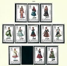 1969/1970 Stamps from Spain - Costumes MNH OG