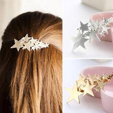 Femmes Or Argent Étoile Barrette Pince à Cheveux Bijoux Populaires Nouveau