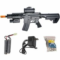 ASG DS4 M4 CQB AEG Automatic Electric 6mm Airsoft Rifle Starter Package 50051