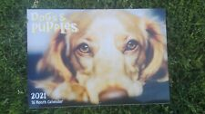 2021 Calendar 16 Month Dogs and Puppies Rectangle Calendars