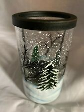 Yankee Candle Winter Forest Crackle Glass Tea Light Holder