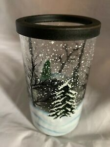 Yankee Candle Winter Forest Crackle Glass Tea Light Holder