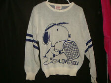 MENS WOMENS M SNOOPY Tennis 1958 UNITED FEATURE SYNDICATE CLIFF ENGLE SWEATER