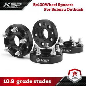 "(4) 1"" Hubcentric Wheel Spacers 5x100 Adapters for Subaru Impreza WRX 2.5 FR-S"