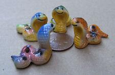 1:12 Single Ceramic Multi Coloured Cobra Snake Dolls House Miniature Accessory L