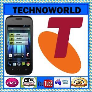 UNLOCKED TELSTRA EASY SMART T809 BLACK 4' 3G ANDROID 4.2 WIFI BLUETOOTH FM RADIO