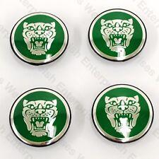 Jaguar Wheel Badge Set - Center Cap - Wheel Motif - 1988-2012 - Green C2S2356