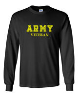 Men's Army Veteran T Shirt Soldier Veteran US United States Tee Long Sleeve Tee