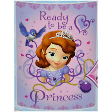 "DISNEY PRINCESS SOFIA THE FIRST BLANKET THROW FLEECE 45""X60"" KIDS GIRLS GIFT NEW"