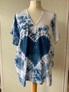 (3501) Ladies Short Sleeve Tie Dye Top - One Size UK 12/20