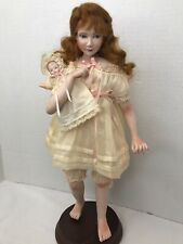 "12"" Artisan Doll Bisque Chest Plate feet arms posable Barefoot Baby Mohair"