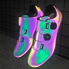 Unisex Cycling Bicycle Shoes Mountain Bike Road Luminous Self-locking Sneakers