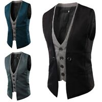 Men Jacket Suit Slim Fit Vest Casual Business Formal Vest Waistcoat Tops New Lot