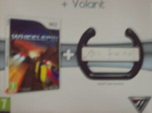 JEU Wheelspin + Volant wii - NEUF