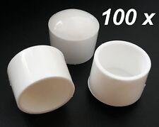 100x ø27-28 mm Sedia bianco tondo tappo del tubo Sedia da giardino stuhlkappe