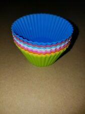 Silicone Cake Muffin Chocolate Cupcake Liner Baking Cup - Set of 8 Colors