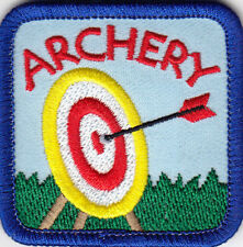 """""""ARCHERY"""" Iron ON Patch Sports Game Compete Archer Bullseye Target"""
