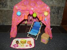 American Girl Seaside Cabana Set with Beach Chair Set Excellent!