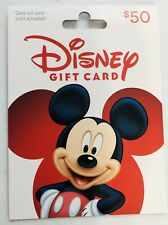 *NEW Never Activated Disney $ 50 Gift Card Mickey Mouse  $0 BALANCE