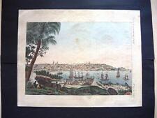 Orig. Kupferstich / engraving  Bertuch  SIDNEY AUSTRALIA   + Textblatt   (#O3#)