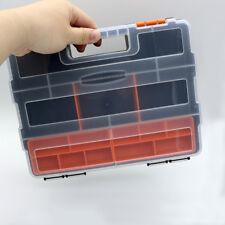 Plastic Carry Tool Storage Box Spanner Screw Parts Hardware Organizer Case Kit