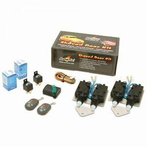 Universal Bolt On Shave Door Kit with 8 Channel Remotes hemi 9 inch rat rod 911