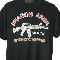 Dragon Arms Shooting Range T Shirt Vintage 90s Full Auto Automatic Weapons XL