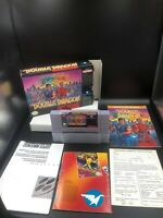 Super Double Dragon (SNES) Super Nintendo -100% CIB Complete IN BOX ! MINT GEM