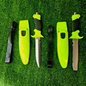 Straightback Knife Hunting Combat Fishing Diving High Carbon Steel Rubber Handle