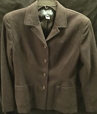 Women's Lauren RALPH LAUREN Black Peacoat Size 10 Virgin Wool Blend Nice