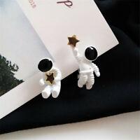 Women's Astronaut Pentagram Star Stud Earrings Drop Dangle Jewelry Elegant Gift