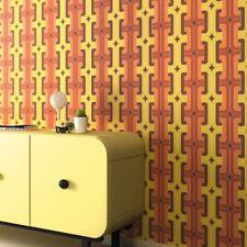 Hotspot arancione e giallo rétro Carta da parati trendy 1970's Design 804812