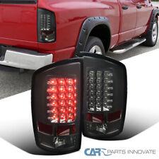 For 07-09 Dodge Ram 1500 2500 3500 Smoke LED Tail Lights Rear Brake Lamps Pair