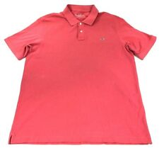 Vineyard Vines Classic Polo Americas Cup Sleeve Logo Coral Mens Large NWOT