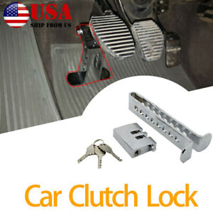 Car Auto Brake Pedal Lock Anti-theft Security Stainless Steel Clutch Lock US
